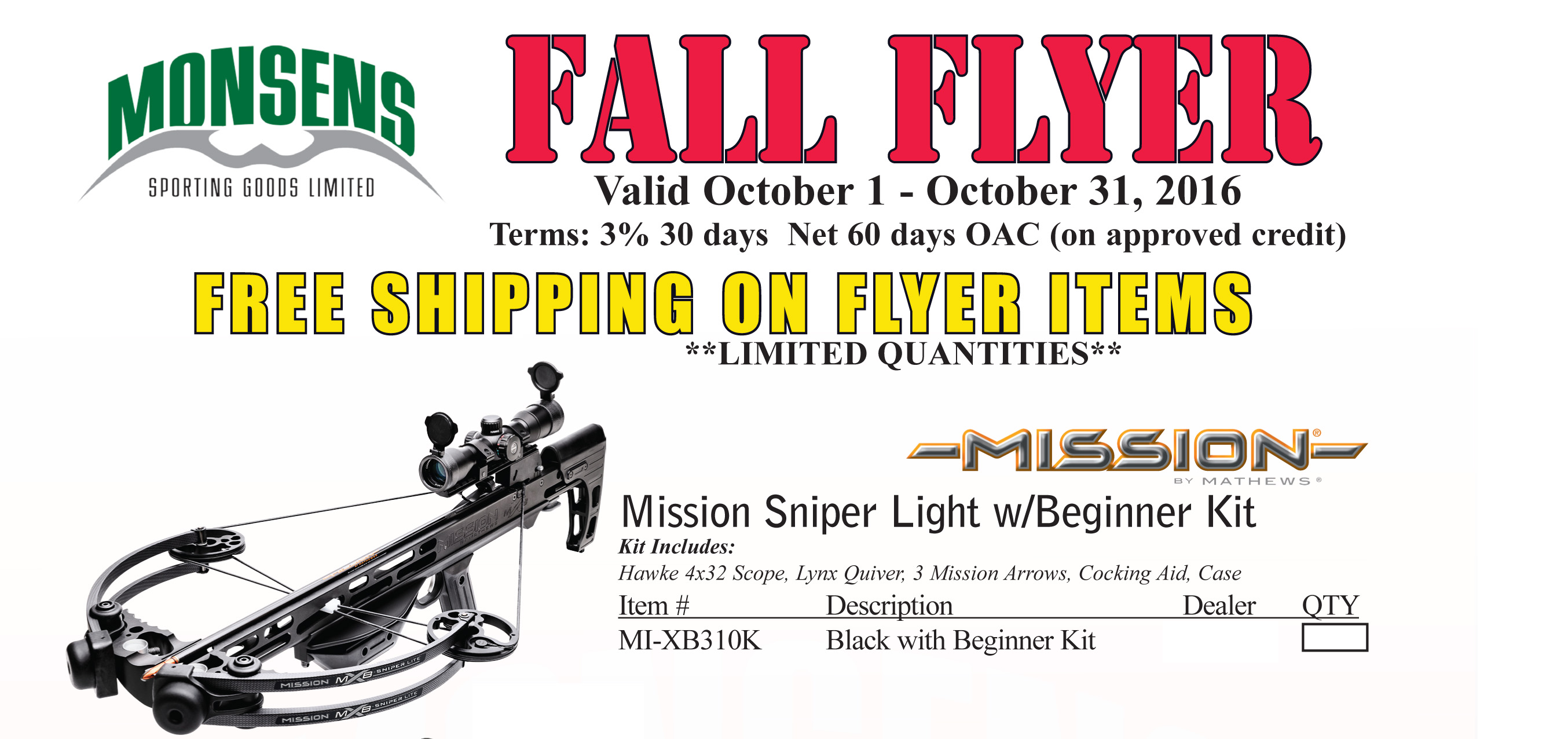 Fall Hunting Specials 2016-1